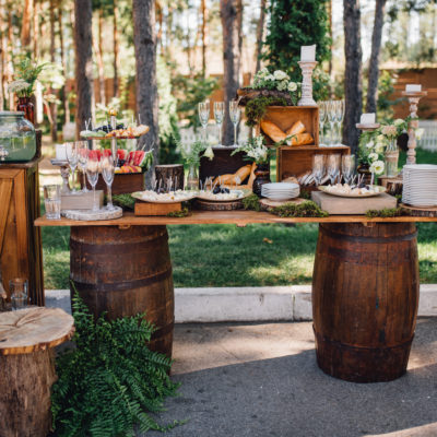 Outdoor Rustic Buffet