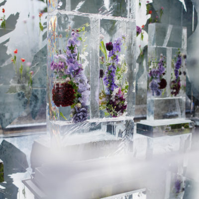 Violet Ice Sculpture
